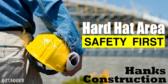 Commercial Contractors Hard Hat Area