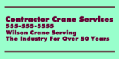 Contractor Crane Services