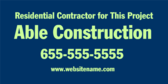 Residential Contractor for This Project