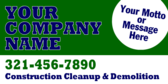 Your Company Name Construction Cleanup Demolition