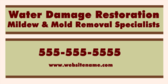 Water Damage Restoration Mildew & Mold