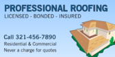 Professional Roofing Free Quotes