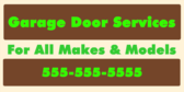 Garage Door Services for All Makes and Models