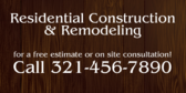 Residential Contractor Project