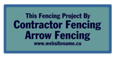 Fencing Project Contracted By