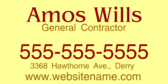Amos Wills General Contractor Contact