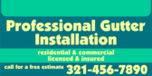 Professional Gutter Installation All Types