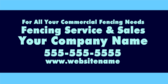 For All Your Commercial Fencing Needs