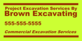 Project Excavation Services by Brown Excavating