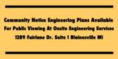 Community Notice Engineering Plans