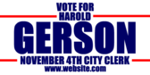 Vote For City Clerk November
