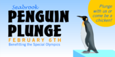 Penguin On Ice Plunge