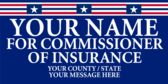 Your Name For Commissioner Of Insurance