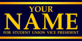 Your name for Student Union Vice President