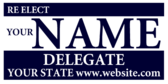 Re Elect Your Name Delegate