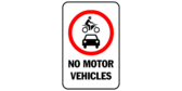 No Motor Vehicles Clip Art