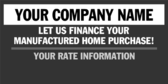Let Us Finance Your Manufactured Home