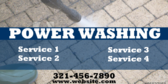 List of Power Washing Services