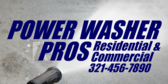 Power Washer with Slogan