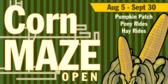 Corn Maze Open