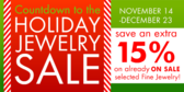 Countdown to Holiday Jewelry Sale