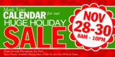 Mark Your Calendar Holiday Sale