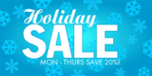 Holiday Sale Blue Snowflake