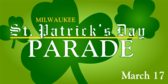 St. Patricks Day Parade Blackletter Stripe