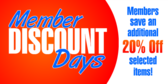 Member Discount Day