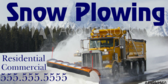 Snow Plow Service Banner