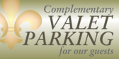 Complementary Valet Parking