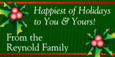 Happy Holidays from Your Family Banner