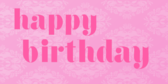 Happy Birthday Pink Text