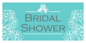 Blue with Flowers Bridal Banner
