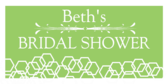 Green Bridal Shower Banner