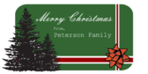 Personalized Merry Christmas Family Banner