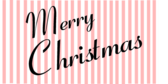 Merry Christmas Text on Candy Stripes Banner