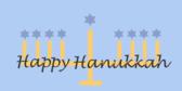 Hanukkah Candle Banner