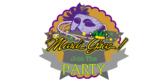 Mardi Gras Partyn Label