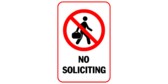 Image No Soliciting