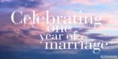 Celebrating 1 Year Of Marriage