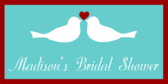 Two Doves Bridal Banner