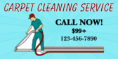 carpet cleaning signs