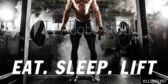 Trade Show Label Fitness Eat Sleep Lift
