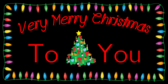 A Very Merry Christmas Tree Designed Banner