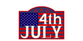 4th July Celebration Label