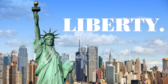 Liberty Patriotic Label