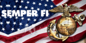 USA Semper Fi Flag Label