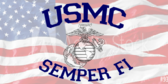 USMC Patriotic Label