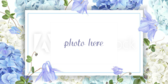 Photo Frame Blue Flower